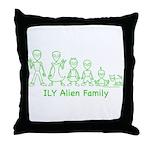 ILYAlienFamilyText Throw Pillow