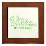 ILYAlienFamilyText Framed Tile