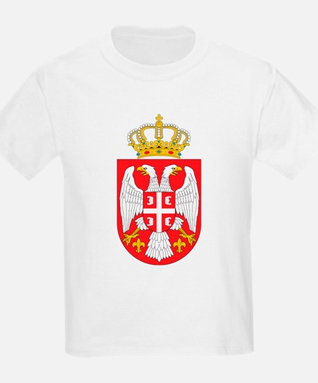 Serbia Coat Of Arms Kids T-Shirt