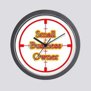 Small Business Owner in Cross Wall Clock