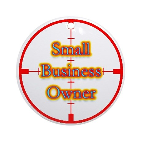 Small Business Owner in Cross Ornament (Round)