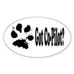 Co-Pilot dog Oval Sticker
