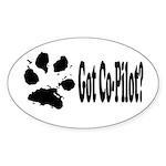 Co-Pilot dog Oval Sticker