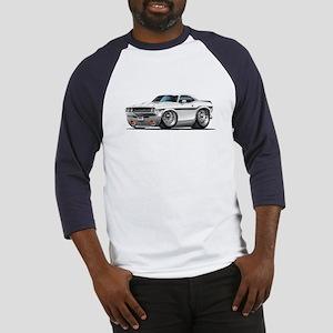 Challenger White Car Baseball Jersey
