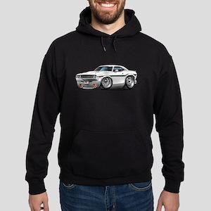 Challenger White Car Hoodie (dark)