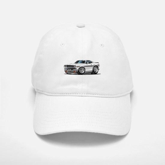 Challenger White Car Baseball Baseball Cap