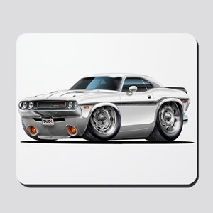 Challenger White Car Mousepad