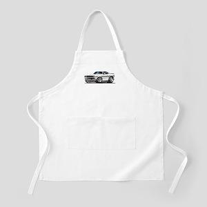 Challenger White Car BBQ Apron