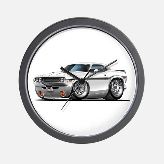 Challenger White Car Wall Clock