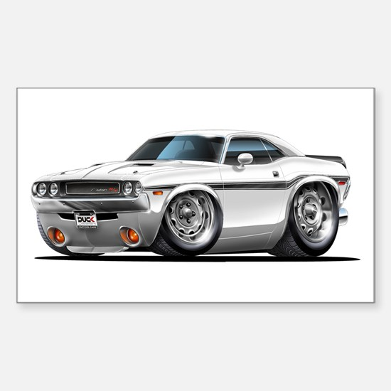 Challenger White Car Rectangle Decal
