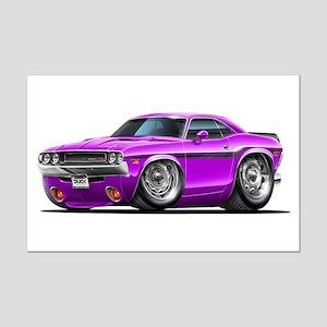 Challenger Purple Car Mini Poster Print