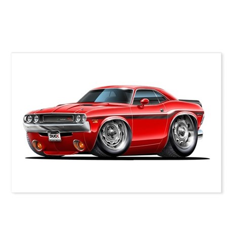 Challenger Red Car Postcards (Package of 8)