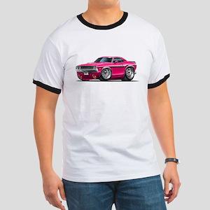 Challenger Pink Car Ringer T