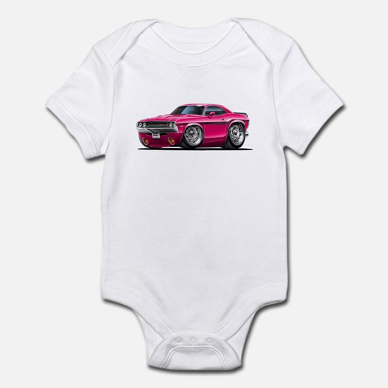 Challenger Pink Car Infant Bodysuit