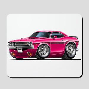 Challenger Pink Car Mousepad