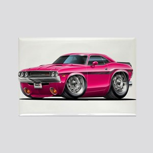 Challenger Pink Car Rectangle Magnet