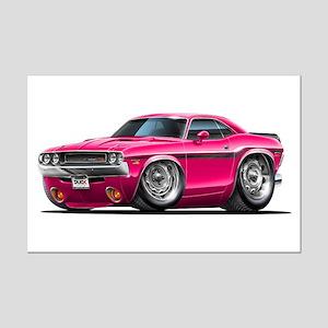Challenger Pink Car Mini Poster Print
