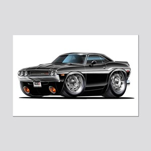Challenger Black Car Mini Poster Print