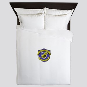 fake logo - spelling bee design Queen Duvet