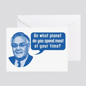 Barney Frank On What Planet Greeting Card