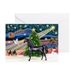 XmsMagic/Horse (Ar-blk) Greeting Cards (Pk of 10)