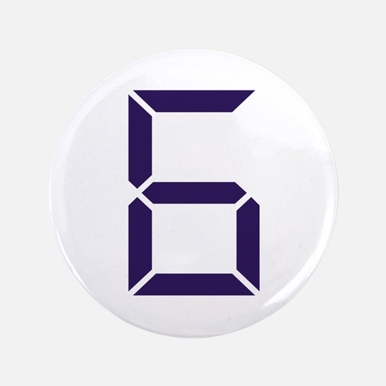 "Number - Six - 6 3.5"" Button"