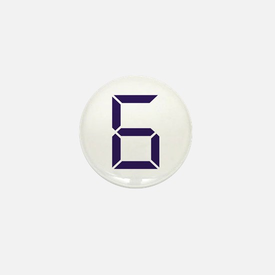 Number - Six - 6 Mini Button