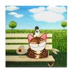 Cat Art - When Nature CallsTile Coaster