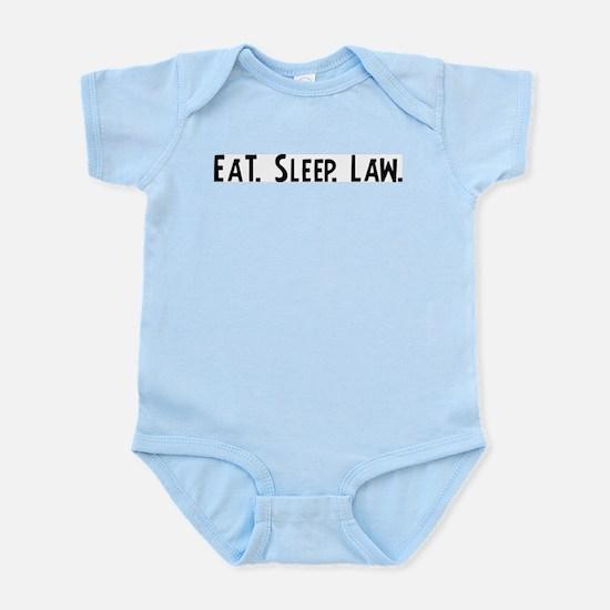 Eat, Sleep, Law Infant Creeper