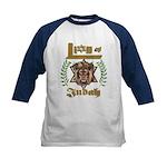 Lion of Judah 6 Kids Baseball Jersey