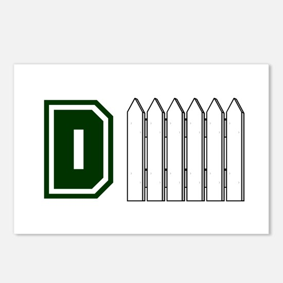 D FENCE (1 GREEN) Postcards (Package of 8)