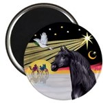 XmasDove/Horse (Ar-blk) Magnet