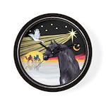 XmasDove/Horse (Ar-blk) Wall Clock
