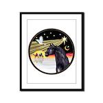 XmasDove/Horse (Ar-blk) Framed Panel Print