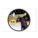 XmasDove/Horse (Ar-blk) Postcards (Package of 8)
