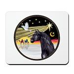XmasDove/Horse (Ar-blk) Mousepad