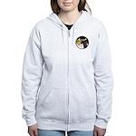 XmasDove/Horse (Ar-blk) Women's Zip Hoodie