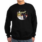 XmasDove/Horse (Ar-blk) Sweatshirt (dark)