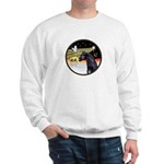 XmasDove/Horse (Ar-blk) Sweatshirt