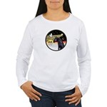 XmasDove/Horse (Ar-blk) Women's Long Sleeve T-Shir