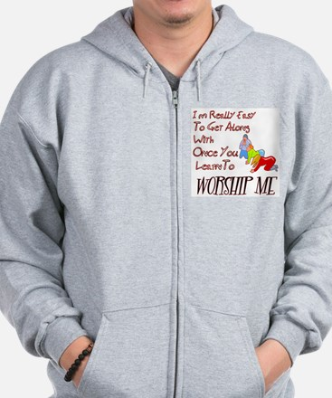 Funny Family and life humor Zip Hoodie