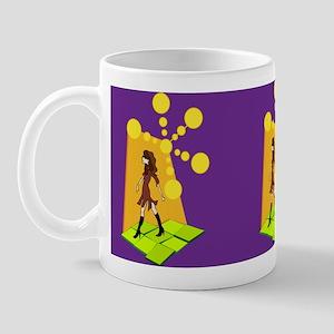 Retro Hipster Girl Mug