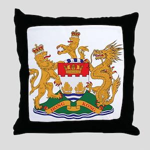 Hong Kong Coat of Arms (1959) Throw Pillow