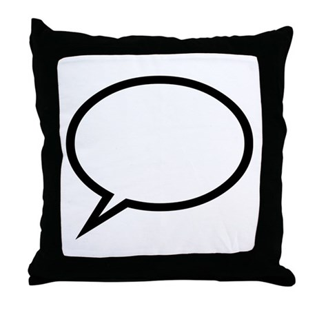 Speech bubble Throw Pillow