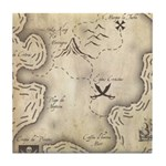 Pirate Map Tile Coaster