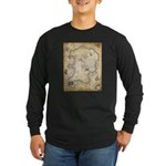 Pirate Map Long Sleeve Dark T-Shirt