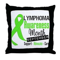 Lymphoma Awareness Month v6 Throw Pillow