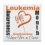 Leukemia Awareness Month v4 Tile Coaster