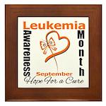 Leukemia Awareness Month v4 Framed Tile