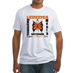 Leukemia Month Butterfly Fitted T-Shirt